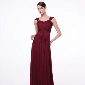 Burgundy Long Sweetheart Gown CD3831
